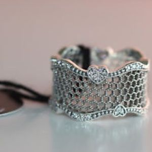 NEW Pandora - Lace of Love Ring, Clear CZ